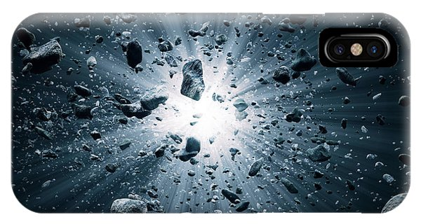 Explosion iPhone X Case - Big Bang Explosion In Space by Johan Swanepoel