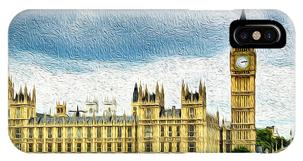 Big Ben And Houses Of Parliament With Thames River IPhone Case