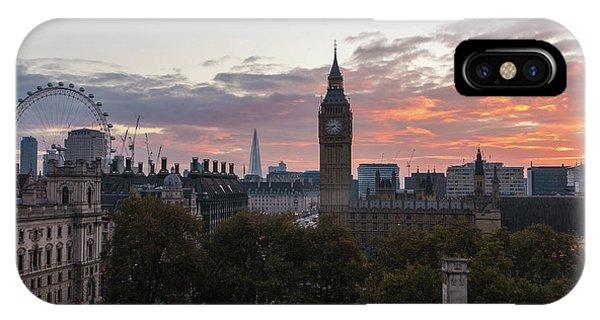 London Eye iPhone Case - Big Ben London Sunrise by Mike Reid