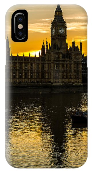 Big Ben Tower Golden Hour In London IPhone Case