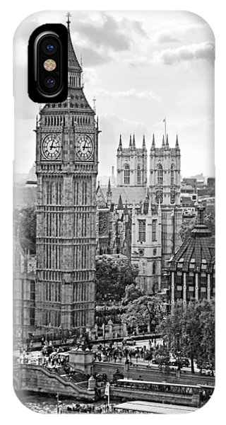 IPhone Case featuring the photograph Big Ben With Westminster Abbey by Joe Winkler