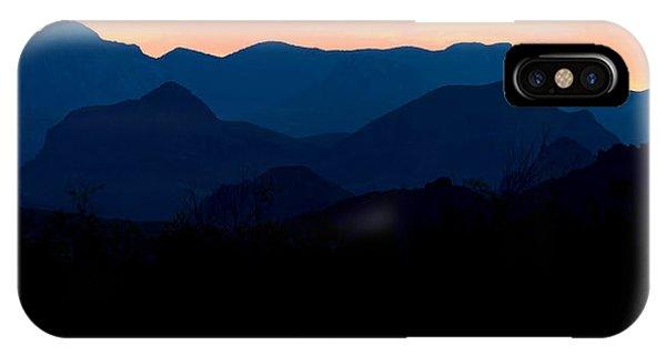 Big Bend Orange Blue Layers IPhone Case