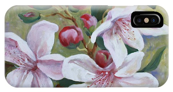 Big Blooms Of Rhododendron IPhone Case