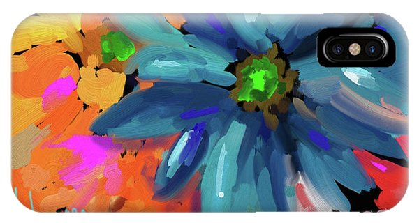 Big Blue Flower IPhone Case