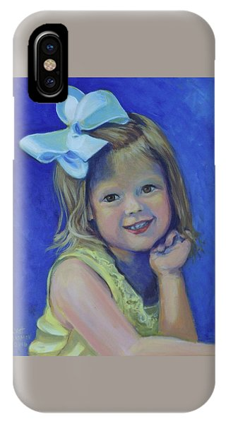 Big Bow Little Girl IPhone Case