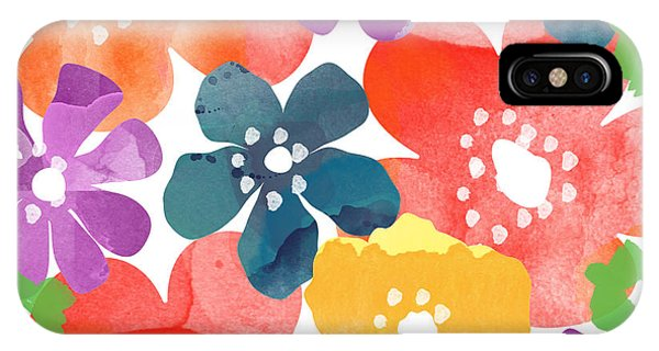 Gallery Wall iPhone Case - Big Bright Flowers by Linda Woods