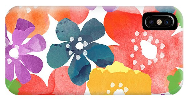 Colorful iPhone Case - Big Bright Flowers by Linda Woods
