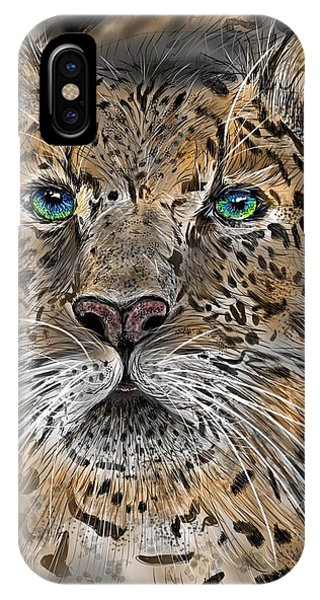 IPhone Case featuring the digital art Big Cat by Darren Cannell