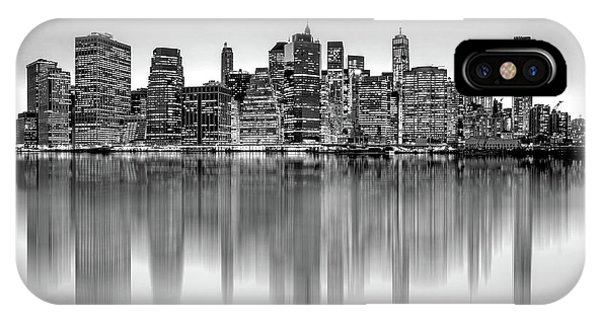 Middle iPhone Case - Big City Reflections by Az Jackson