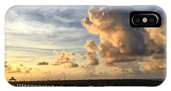 Big Cloud And The Pier, IPhone Case