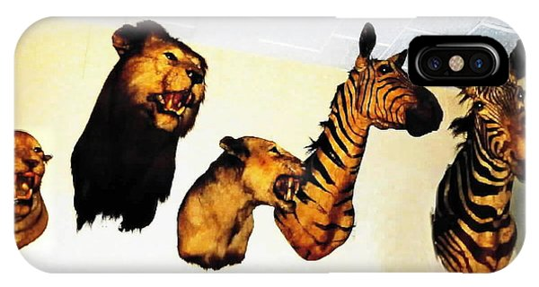 Big Game Africa - Zebras And Lions IPhone Case