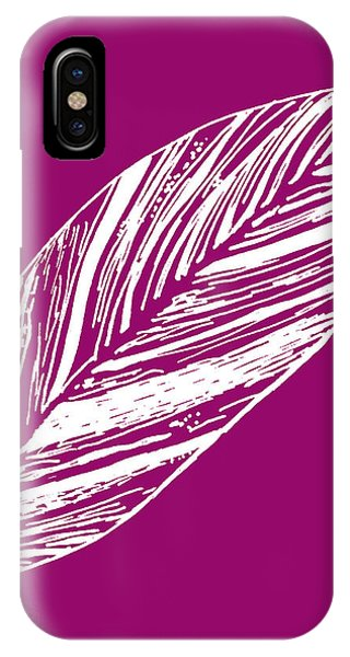 Big Ginger Leaf - Magenta IPhone Case