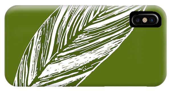 Big Ginger Leaf - Olive IPhone Case