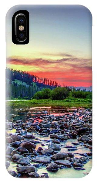 Big Hole River Sunset IPhone Case