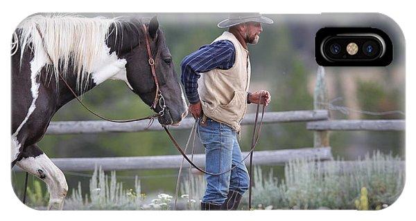 Big Horn Cowboy IPhone Case