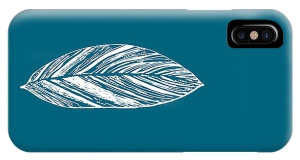 Big Leaf - Crystal Teal IPhone Case