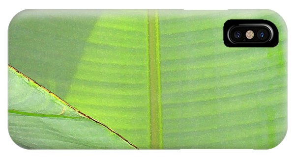 Big Leaves With Lizard IPhone Case