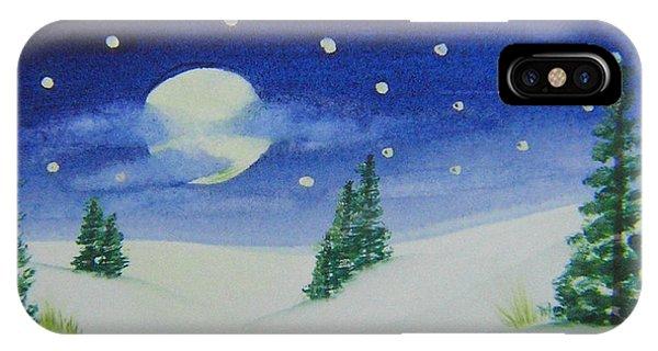 Big Moon Christmas IPhone Case