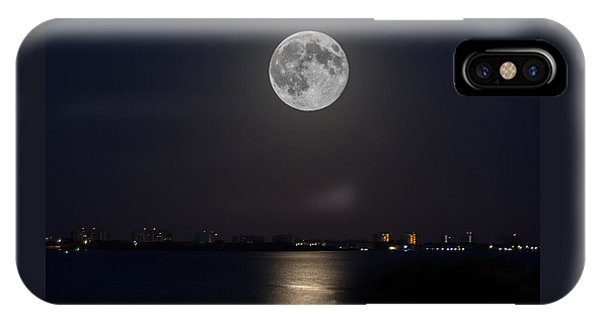 Big Moon Over The Bay IPhone Case