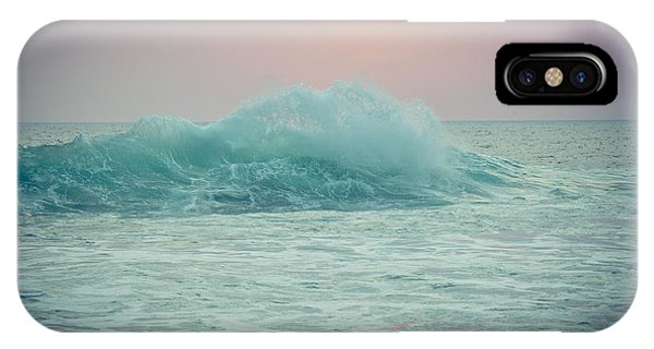 Big Ocean Wave At Sunset With Sun IPhone Case