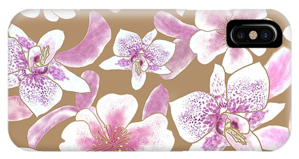 Big Orchids 3 Iced Coffee IPhone Case