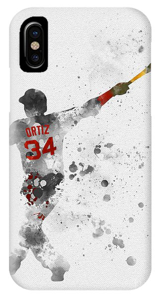 Red Sox iPhone Case - Big Papi by Rebecca Jenkins
