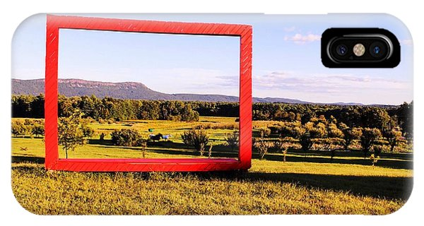 Big Red Frame Easthampton IPhone Case