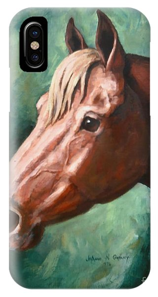 Big Red Snip    Horse Painting Phone Case by JoAnne Corpany