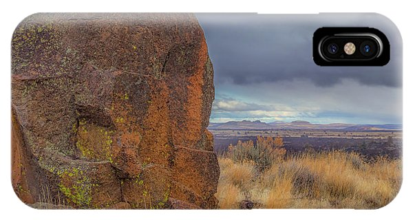 Big Rock At Lava Beds IPhone Case