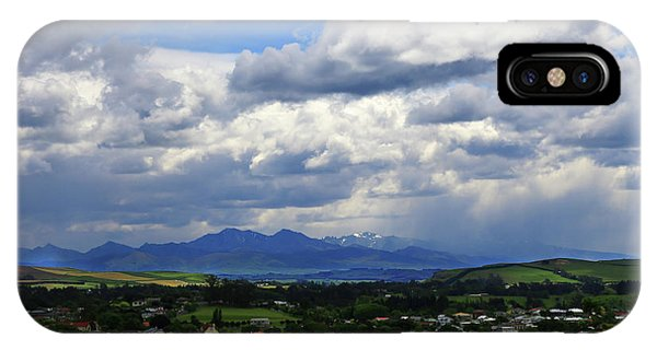 Big Sky Over Oamaru Town IPhone Case
