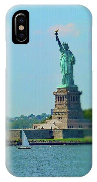 Big Statue, Little Boat IPhone Case