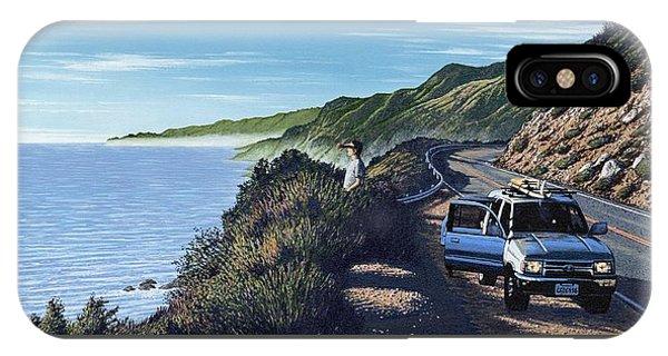 Santa Cruz Surfing iPhone Case - Big Sur Roadtrip by Andrew Palmer