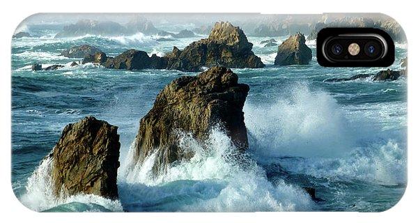 Big Sur Winter Wave Action IPhone Case