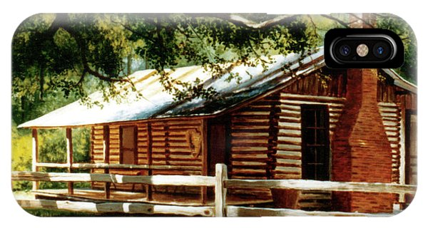 Big Thicket Information Center_the Staley Cabin IPhone Case