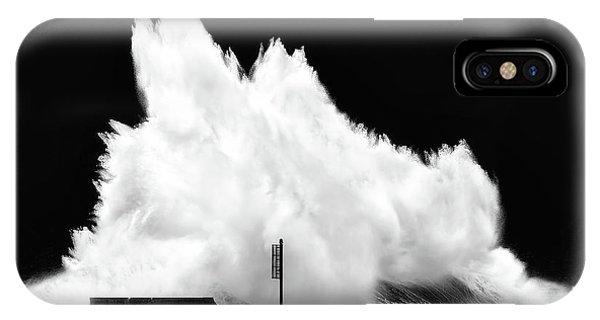 Big Wave Breaking On Breakwater IPhone Case