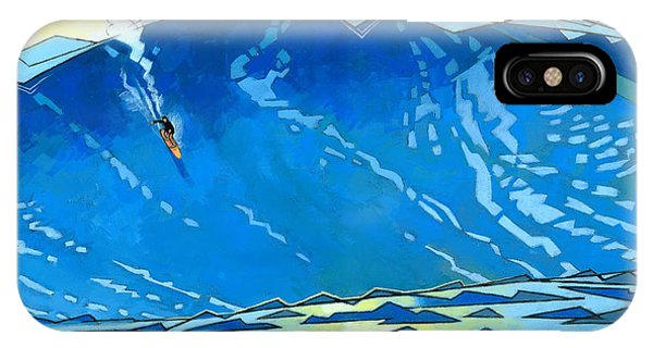 Water iPhone Case - Big Wave by Douglas Simonson