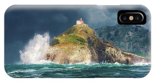 Big Waves Over San Juan De Gaztelugatxe IPhone Case