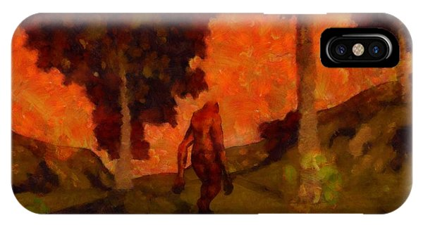Strange iPhone Case - Bigfoot Wandering by Esoterica Art Agency