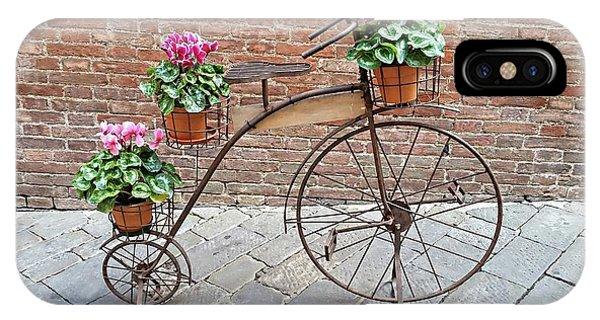 IPhone Case featuring the digital art Bike Art - Siena, Italy by Joseph Hendrix
