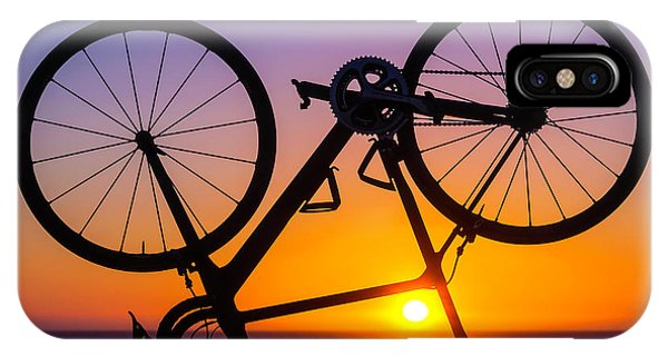 Bicycle iPhone X Case - Bike On Seawall by Garry Gay