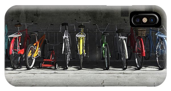 Bicycle iPhone X Case - Bike Rack by Cynthia Decker