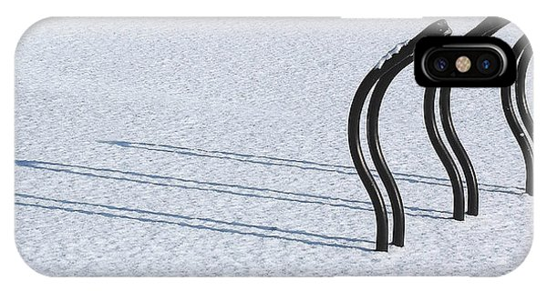 Bike Racks In Snow IPhone Case