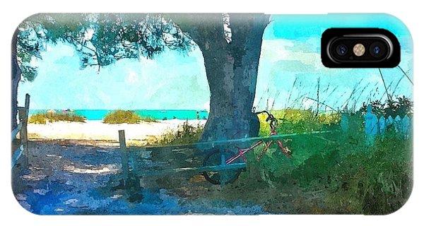Bike To The Beach IPhone Case