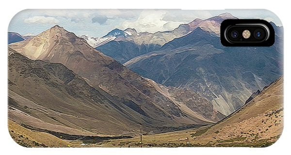 Bikers And The Andes Mountains IPhone Case
