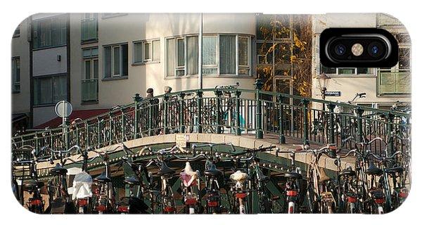 Bikes Bridge And Bird IPhone Case