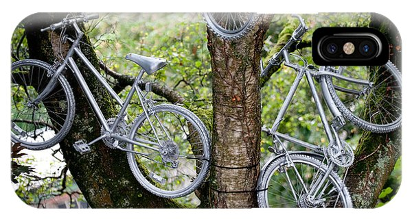 Bikes In A Tree IPhone Case