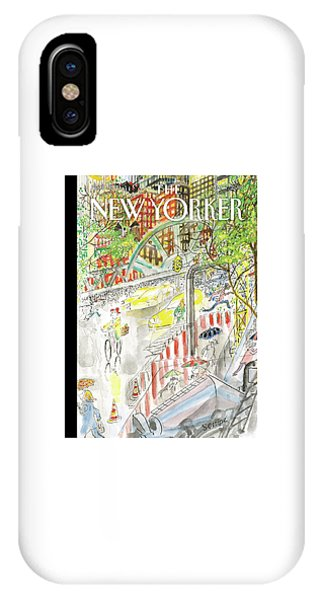 Biking In The Rain IPhone Case