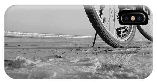 Biking To The Beach IPhone Case