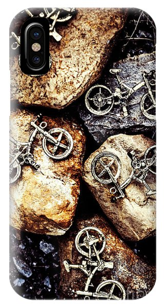 Stone Wall iPhone Case - Biking Trail Scene by Jorgo Photography - Wall Art Gallery