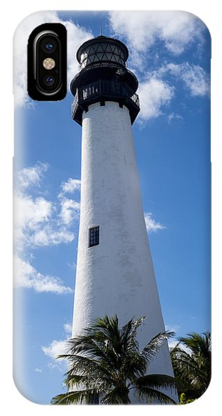 Bill Baggs Lighthouse Cape Florida State Park Palm Trees IPhone Case